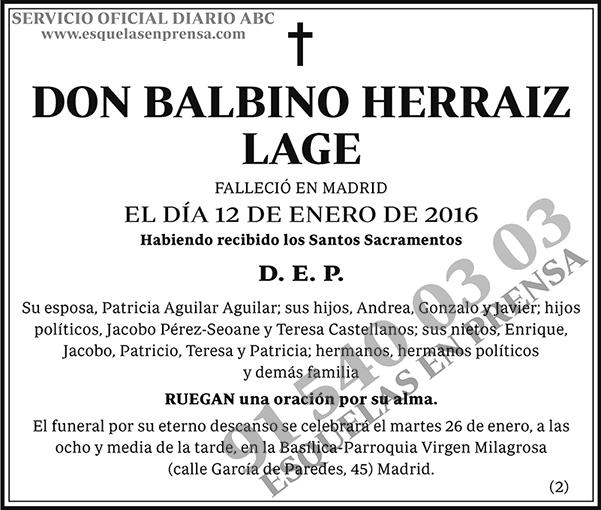 Balbino Herraiz Lage